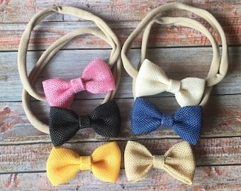 Pick 3 Nylon Headbands, Nylon Headband, Baby Headband, Newborn Headband, Baby Bows, Baby Girl Headband, Baby Bow Headband, Hair Bows, Baby