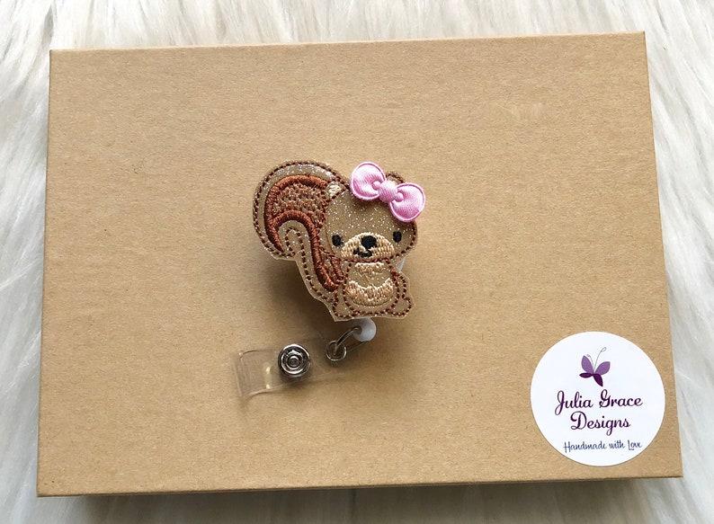 Badge Pull RN Badge Reel Squirrel Badge Reel OR Magnet Animal Badge Reel Retractable Badge Nurse Badge Reel Badge Reel Badge Clip