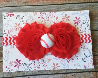 Baseball Headband, Baby Headband, Newborn Headband, Baseball, Infant Headband, Baseball Bow, Headband, Baseball Baby Headband, Girl Headband