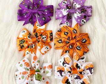 PICK 1 Halloween Hair Clip, Toddler Hair Clip, Baby Hair Clip, Baby Girl Hair Clip, Girl Hair Clip, Clippie, Baby Barrette, Halloween Bow