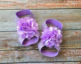 Lavender Barefoot Sandals, Baby Barefoot Sandal, Baby Girl Shoe, Barefoot Sandal, Baby Sandal, Baby Shoe, Newborn Shoe, Newborn Sandal, Baby