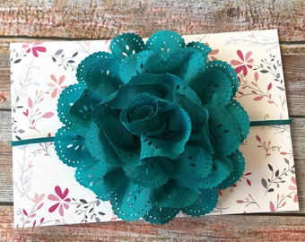 Baby Girl Headband, Teal Headband, Blue Headband, Baby Headband, Newborn Headband, Infant Headband, Toddler Headband, Fall Headband, Baby