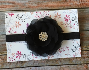 Black Baby Headband, Baby Headband, Newborn Headband, Black Headband, Infant Headband, Baby Girl Headband, Girl Headband, Black Hair Bow