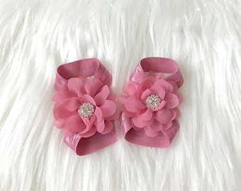 Dusty Pink Barefoot Sandals, Baby Barefoot Sandals, Newborn Shoes, Baby Girl Shoes, Newborn Sandals, Baby Girl Sandals, Baby Shoes, Baby