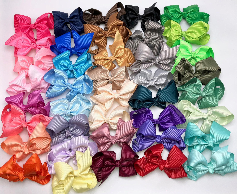 Pick 3 Big Bow Headbands Or Clips Baby Bow Headband Bow