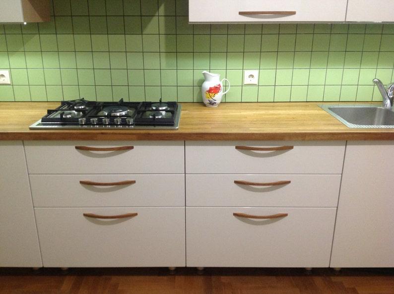 Wooden drawer pulls Wood door handle for kitchen furniture