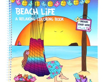 Pre-Sale! Beach Life A Relaxing Coloring Book for Adults