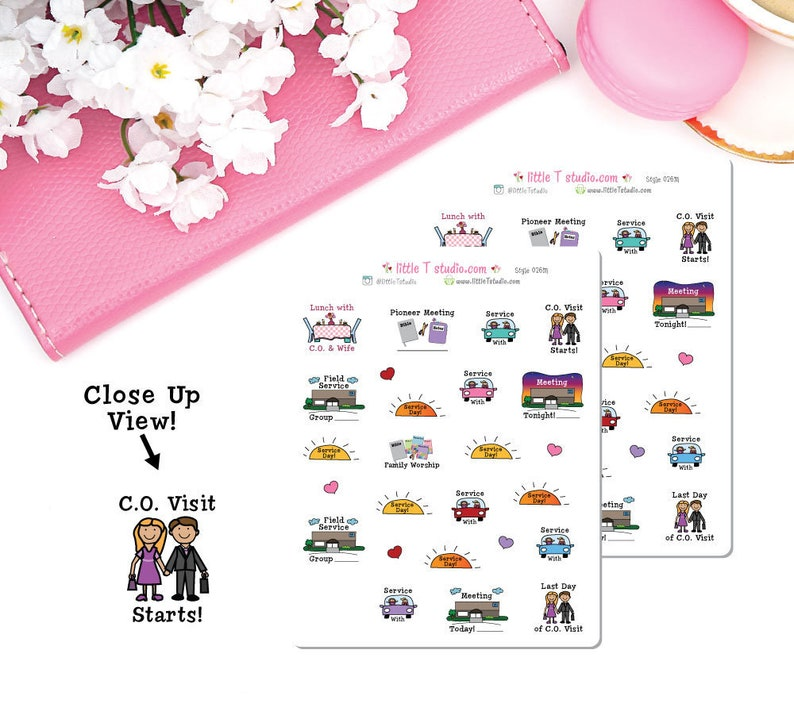 Micro Printed Sticker Sheet - Circuit Overseer Visit Reminder Variety Pack  - Style 026M