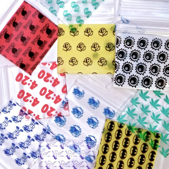 "1.5 x 1.5/""  mini ziplock bags 1515 reclosable 100 Blue Devils Apple baggies"