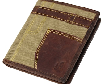 StarHide Mens Top Quality VT Luxury Leather Small Compact Wallet Purse 830 Brown