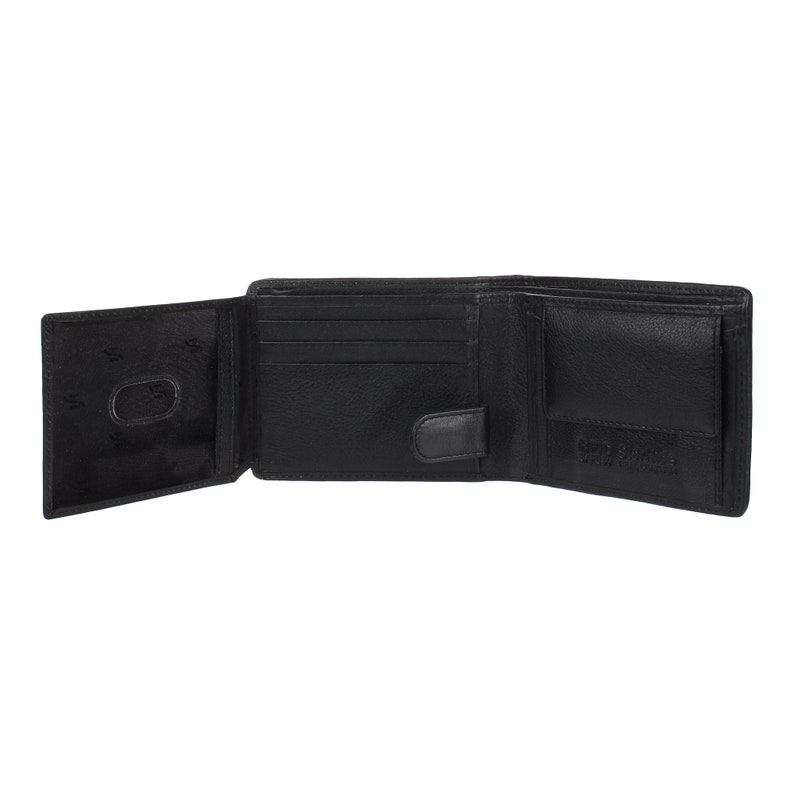 Designer Billfold Wallet RFID BLOCKING Genuine Leather Coin Pocket Wallet Black Red Black Friday Christmas Deals Sale Gift For Mens