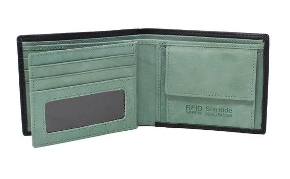 Starhide Homme RFID Bloquant en Cuir Véritable Portefeuille Passcase Wallet Purse 835