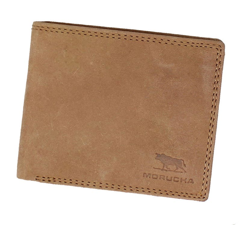 7790b998a18f Morucha RFID BLOCKING Tan Leather Wallet For Mens Real