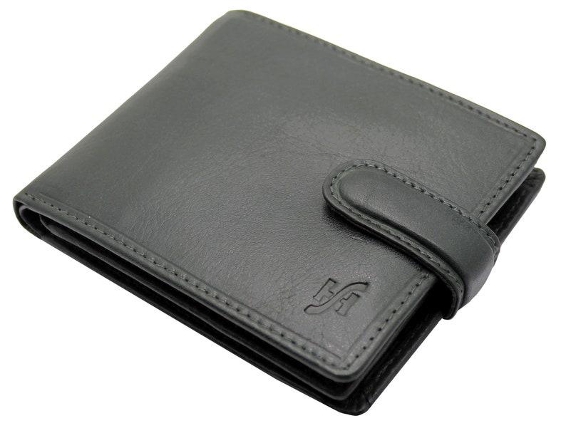 09b628dce8bdd Men s RFID Blocking Luxury Soft Black VT Leather Wallet