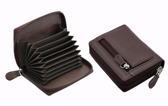 RFID Blocking Wallet Black Friday Christmas Deals Sale Gift For Men Real Leather Multi Credit Card Holder Wallet Black Red