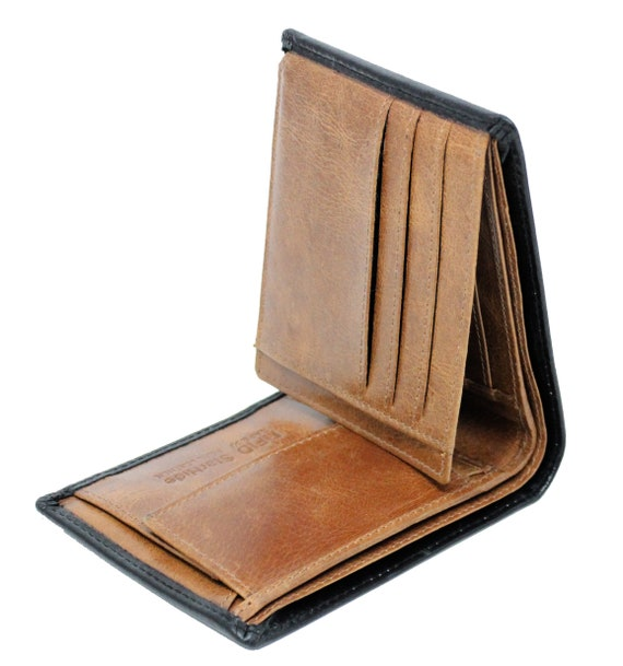 Mid//Brown Leather Credit Card Holder Boxed RFID SAFE