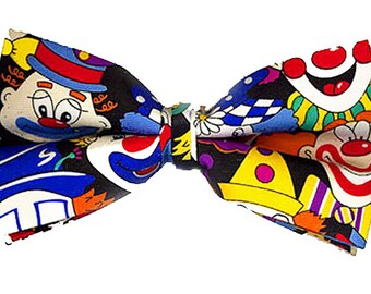 Adults Multicolored Gingham Check Giant Bow Tie Funny Clown /& Circus Fancy Dress