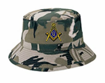 SAFARI CAMO BUCKET Hat - One Size Fits Most - 20+ Embroidered Logo for Most  Orders to Choose From c30e3828c