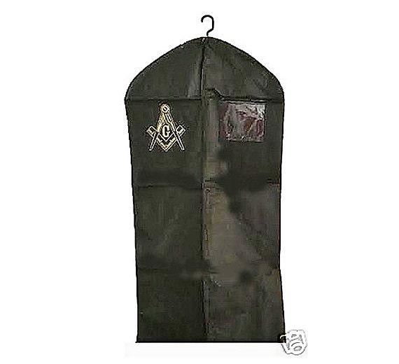 c12f7d8cb1 MASONIC SUIT BAG Zippered Front Imprinted Logo and I D