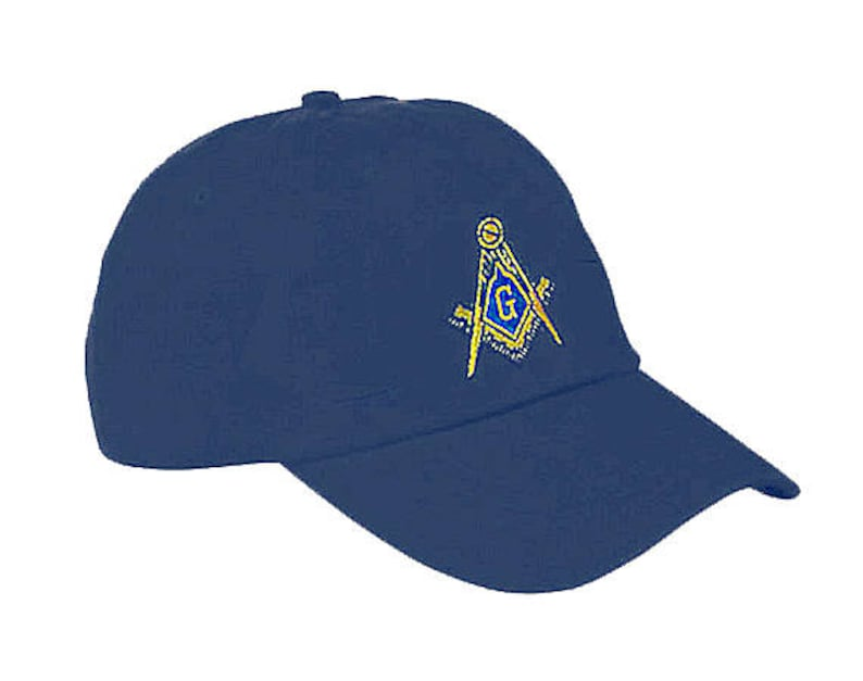 ca367cb5e36f2 MASONIC HAT on NAVY Adjustable 20 Embroidered Logo for