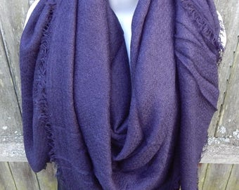 Navy Blue Blanket Scarf