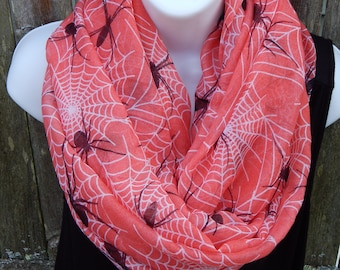 Spider and Cobweb Infinity Scarf
