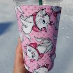 Cartoon Cats Iced Coffee Cozy