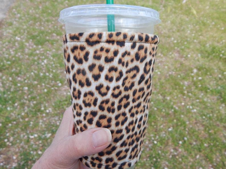 Cheetah Iced Coffee Cozy image 0