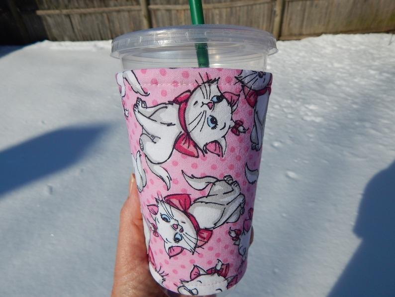 Cartoon Cats Iced Coffee Cozy image 0