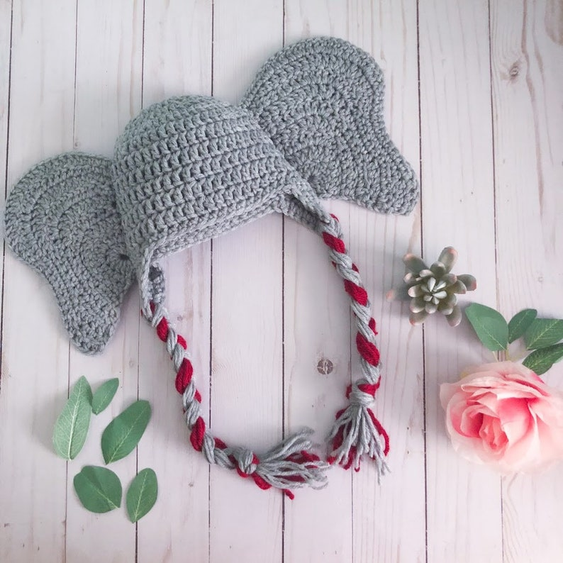 Infant Teen Adult  Made to Order Toddler Child CUSTOM Elephant Hat  Pick you color  Pick your size