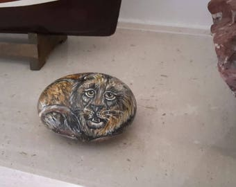 Stone Lion painting