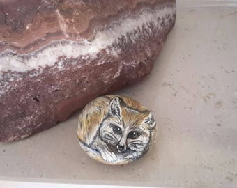 Rock painting Fennec (Desert Fox)