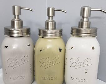 3 large quart size soap dispensers