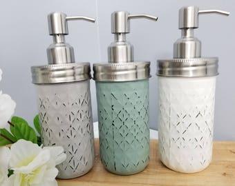 Mason jars Soap Dispensers 3pc Set