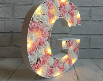 Amazing Light Up Initial, Bridal Shower Decoration, New Baby Girl Gift, Baby Girl  Room Decor