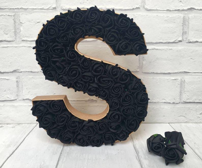 Black And Gold Decor Gothic Inspired Room Decor Black Rose Etsy
