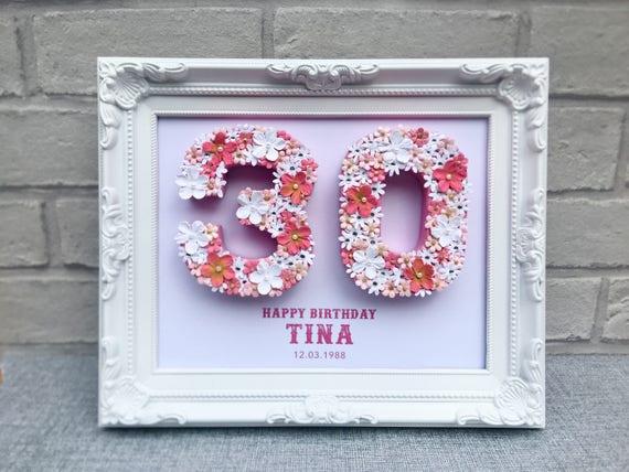 Personalisierte 30 Geburtstag Geschenk Einzigartige 30 Etsy