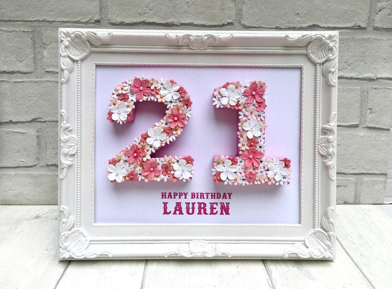Personalised 21st Birthday Gift Keepsake