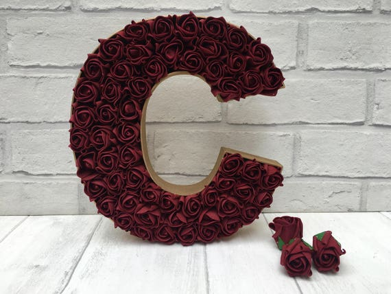 Burgundy and gold decor, Gold and Burgundy wedding decor, Burgundy rose  letter, Burgundy bedroom decor, Burgundy wedding initials, Burgundy