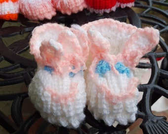 Baby booties knitted by Alla. Perfect special baby gift!