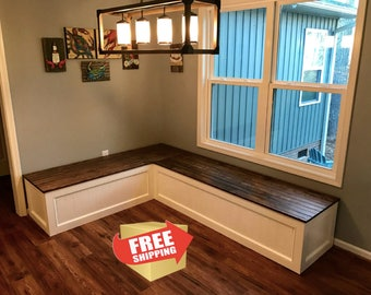 Banquette,Corner Bench,kitchen Seating,L Shaped Bench,breakfast Nook,  Kitchen Nook,bench,FREE SHIPPING,.