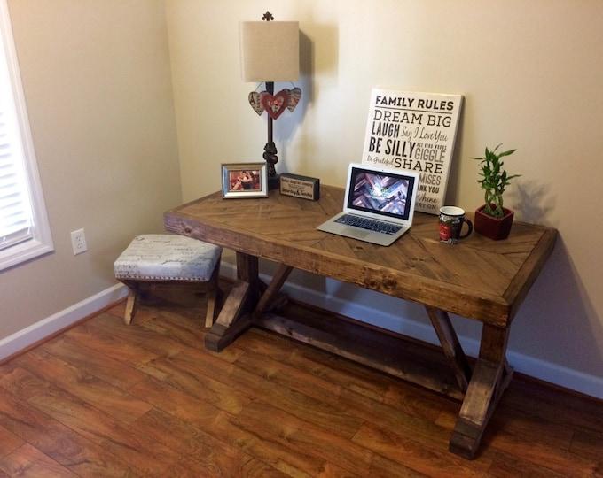 Desk, rustic desk.