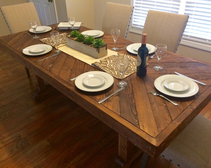 Farmhouse table, rustic table, kitchen table