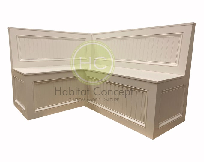Banquette,Corner bench,kitchen seating,L shaped bench,breakfast nook, kitchen nook,bench with backrest.. FREE SHIPPING