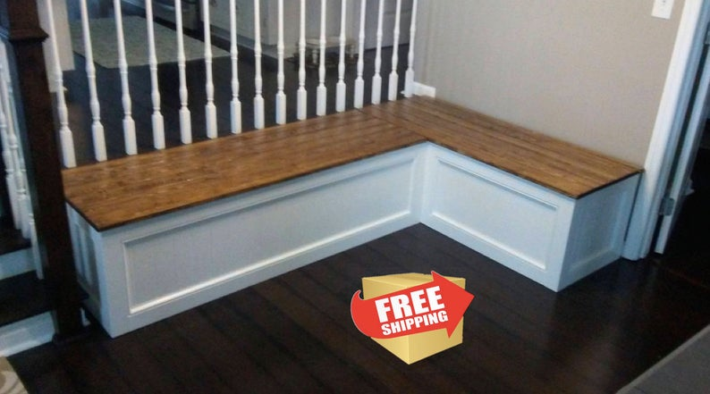 Corner Bench Kitchen Seating L Shaped Bench Breakfast Nook Free Shipping