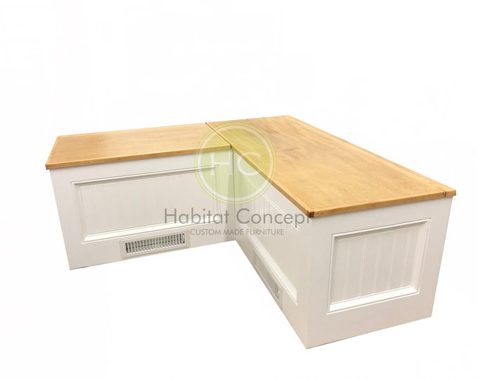 Banquette,Corner bench, kitchen seating,L shaped bench, breakfast nook,with flooring vent,FREE SHIPPING..!!!