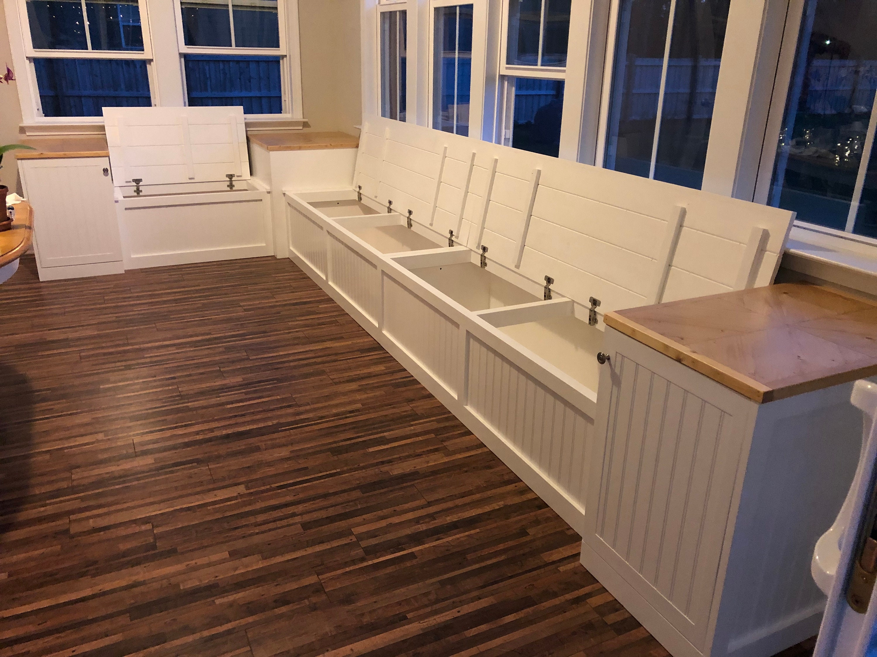 Picture of: Banquette Corner Bench Kitchen Seating L Shaped Bench Breakfast Nook Kitchen Nook Bench With End Tables Free Shipping