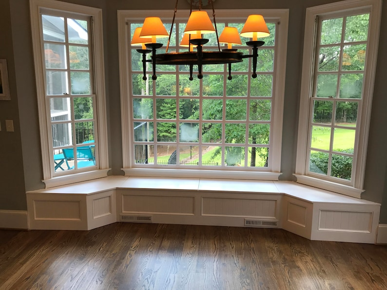 Banquette Bench For A Bay Window Kitchen Seating Shaped Etsy