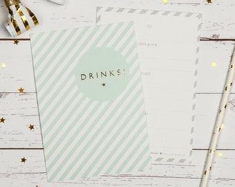Drinks Invitations | Drinks Invites | Drinks | Gold Foil Invitations
