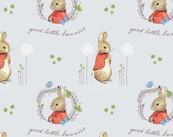 Easter BUNNY Unicorn Bunnicorn Fabric By the Half Yard 100/% Cotton